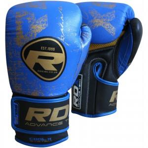 Перчатки боксерские RDX Premium Blue