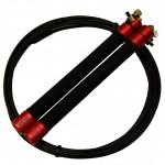 Скакалка для кроссфита PCF Competition Lite, красная