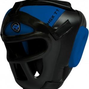 Шлем боксерский с решеткой RDX Grill Defence синий