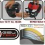 Шлем боксерский с решеткой RDX Grill Defence красный